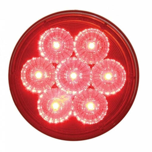 "7 LED 4"" Reflector Stop, Turn & Tail Light - Red LED/Red Lens"