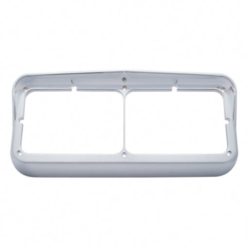 Rectangular Dual Headlight Bezel with Visor