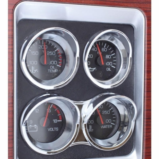 Bells-And-Whistles-Chrome-Shop-Trucks-Aftermarket-Accessories-Interior-United Pacific-Kenworth Small Gauge Bezel-Peterbilt-Kenworth-Freightliner-Mack-Volvo-Lonestar