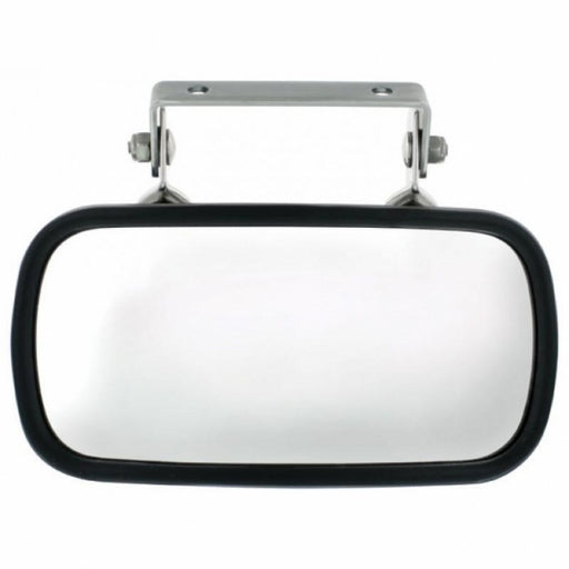 Rectangular Stainless Convex Mirror With U-Bracket