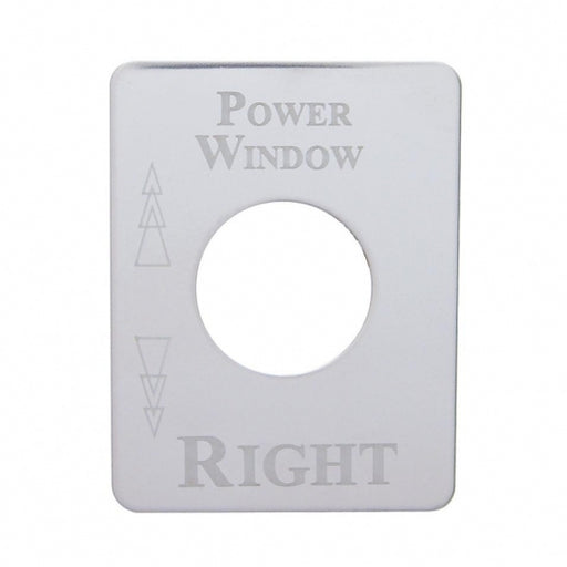 Kenworth Stainless Switch Plate - Window (Power Right)