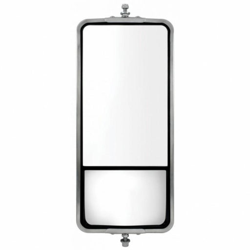 "7"" X 16"" Stainless West Coast Mirror W/ Convex Lower Mirror - Heated"