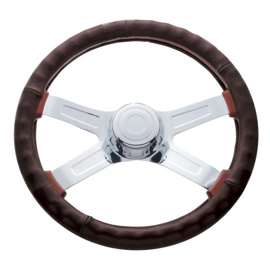 "18"" Steering Wheel Cover - Dark Brown"