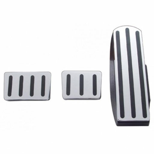 Freightliner Chrome Pedal Set - Black Insert