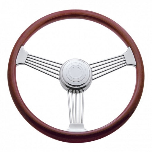 "United Pacific 18"" Banjo Steering Wheel w/ Hub For 1998 - 2005 Peterbilt, 2001 - 2002 Kenworth"