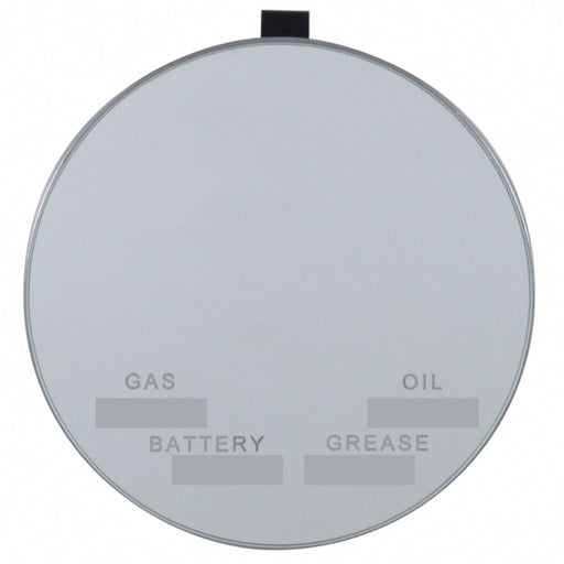 Round Visor Vanity Mirror With Service Info Markers