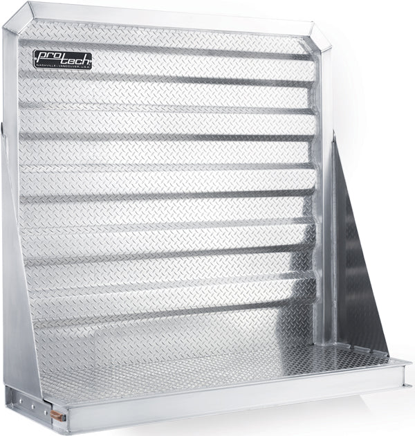 Diamond Plate DROM Cab Headache Rack