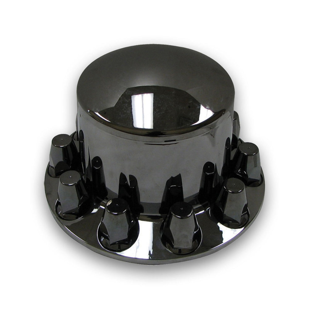 Trux Accessories Black Chrome ABS Plastic Rear Axle Cover Kit w/ Removable Center Cap & 33mm Threaded Nut Covers