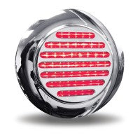 "Trux Accessories 4"" Red Stop, Turn & Tail to White Back Up LED Light with Flange Mount"