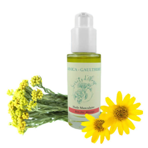 Huile musculaire Arnica – Gaulthérie Bio