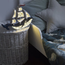 Load image into Gallery viewer, Little Lights Whale Ship Lamp - Little Lights US