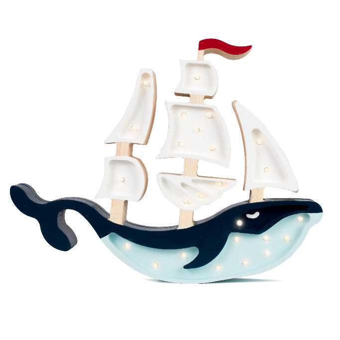 Little Lights Whale Ship Lamp - Little Lights US