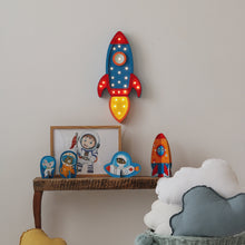 Load image into Gallery viewer, Little Lights Rocket Ship Lamp