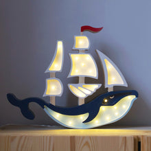 Load image into Gallery viewer, Little Lights Whale Ship Lamp