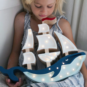 Little Lights Whale Ship Lamp