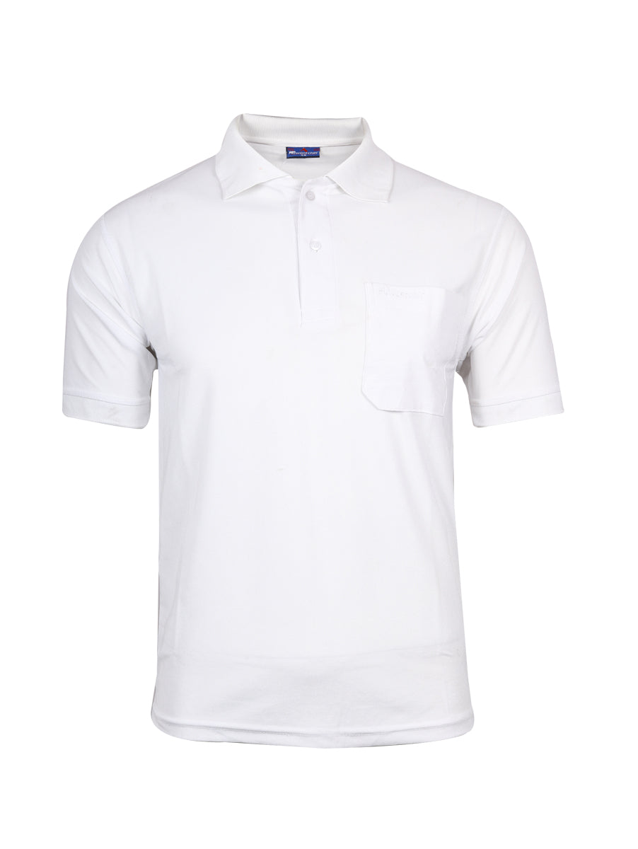 Cotton White Half Sleeve Polo T-Shirt