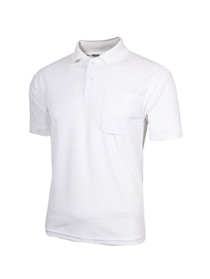 Pelican Cotton White Half Sleeve Polo T-Shirt