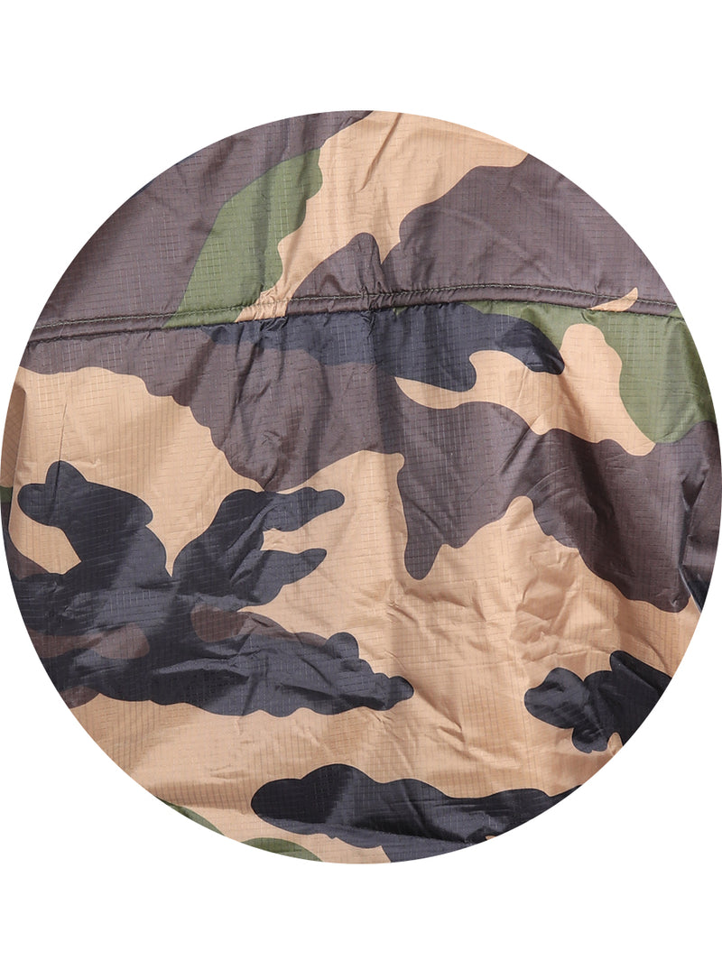 Camouflage Print Jacket with Detachable Hood