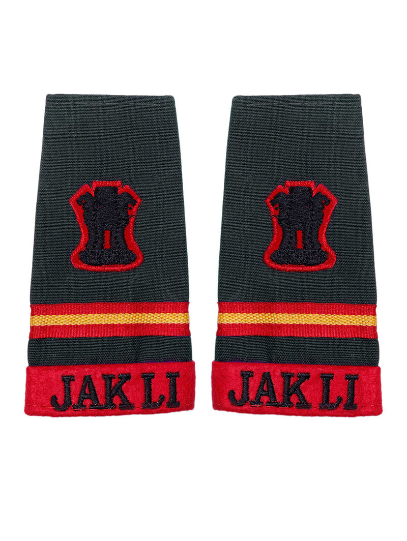 Epaulette Subedar Major Jammu And Kashmir Light Infantry