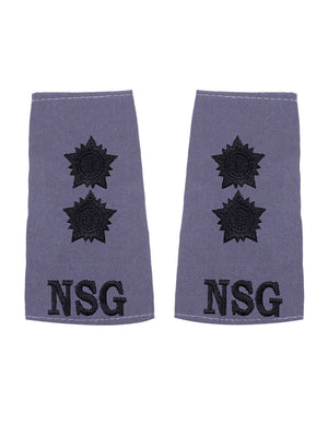 Epaulette Grey Lieutenant National Security Guards