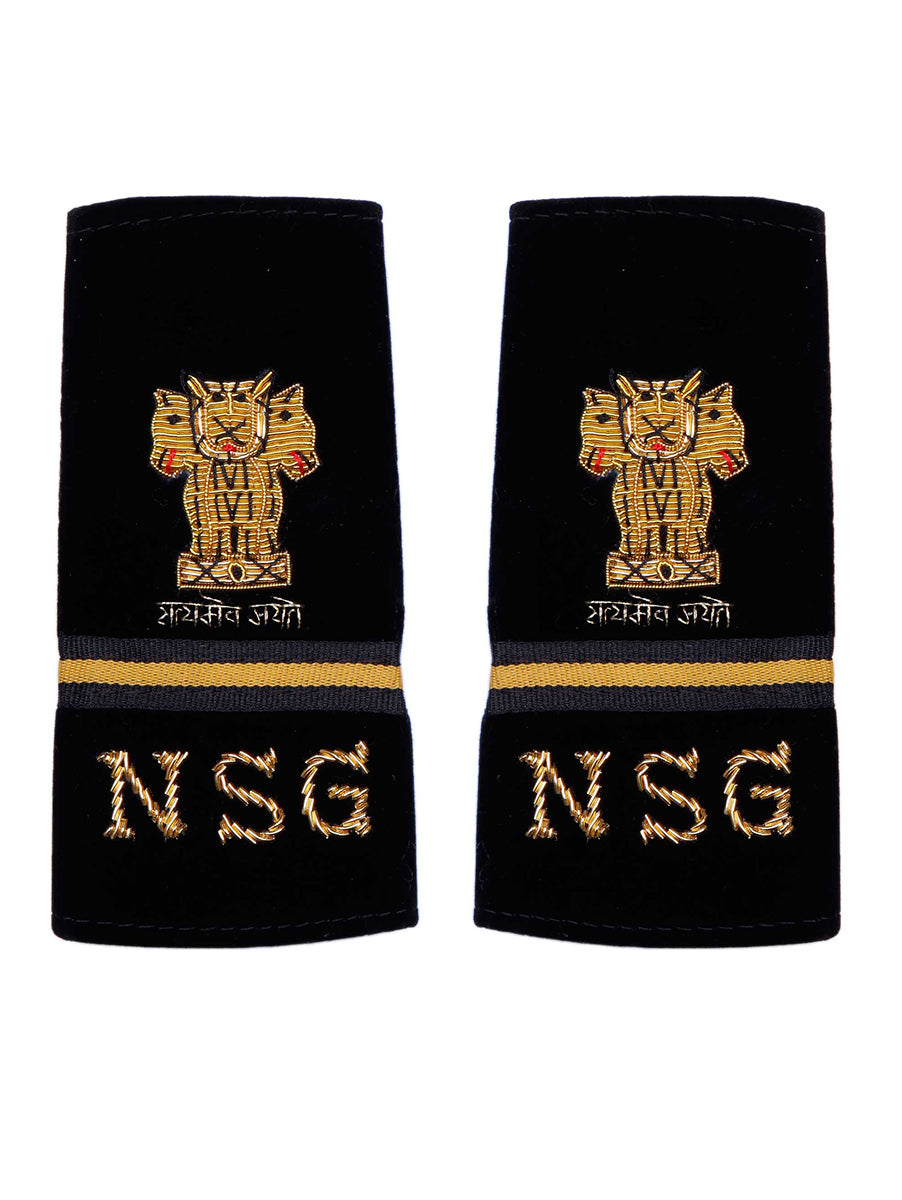 Epaulette Hand Made Subedar Major National Security Guards