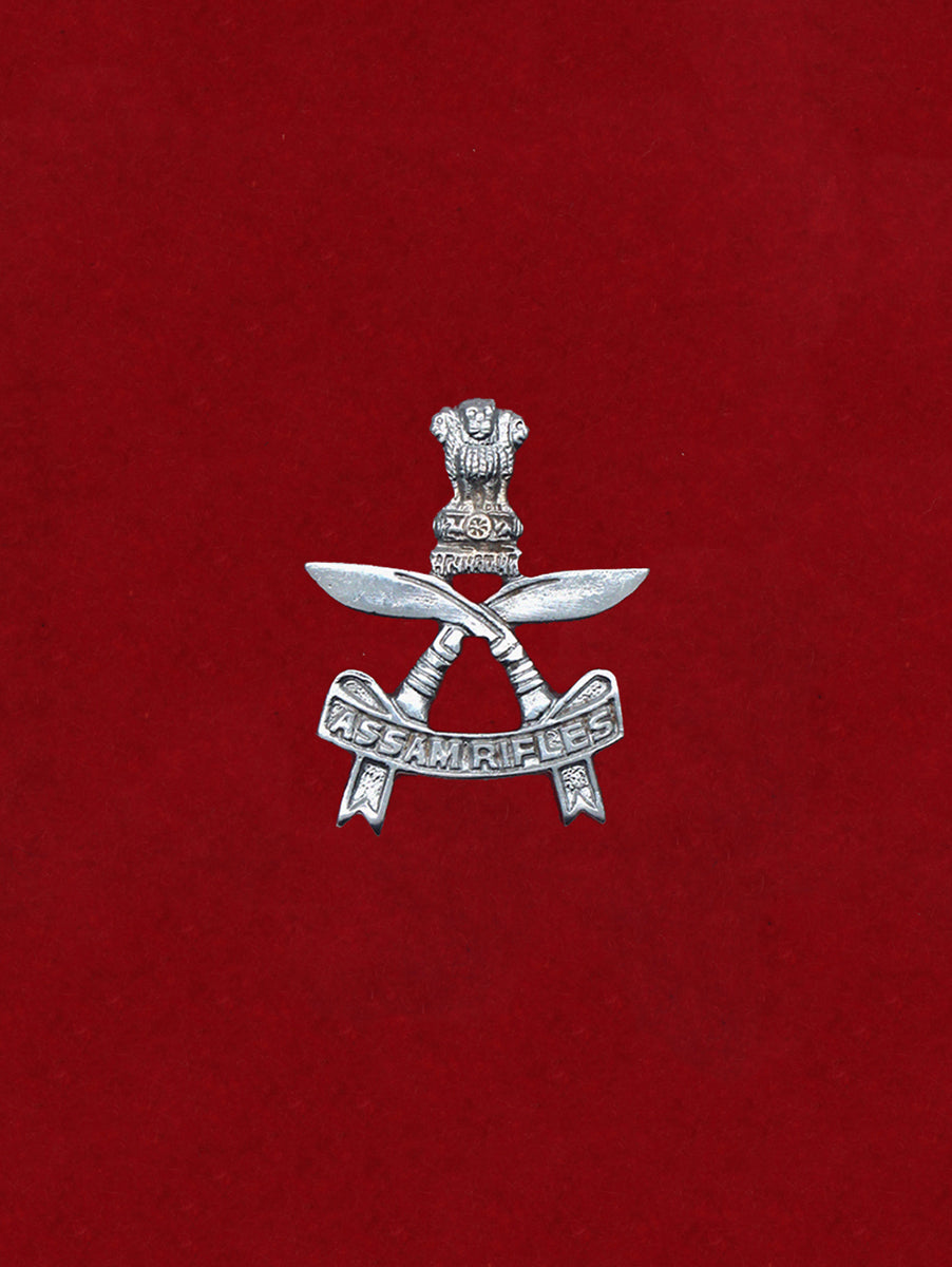 Beret Cap Badge Assam Rifles Aluminium
