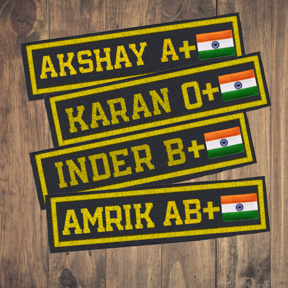 Army Embroidery Name Tag Patch