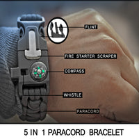 5 in 1 Paracord Bracelet