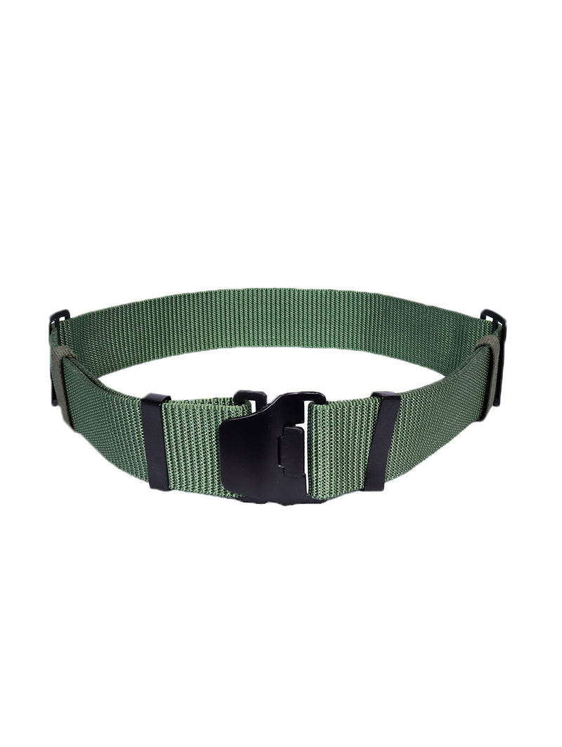 Olive Green Plain Tactical Belt
