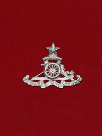 Beret Cap Badge Regiment of Artillery Aluminum