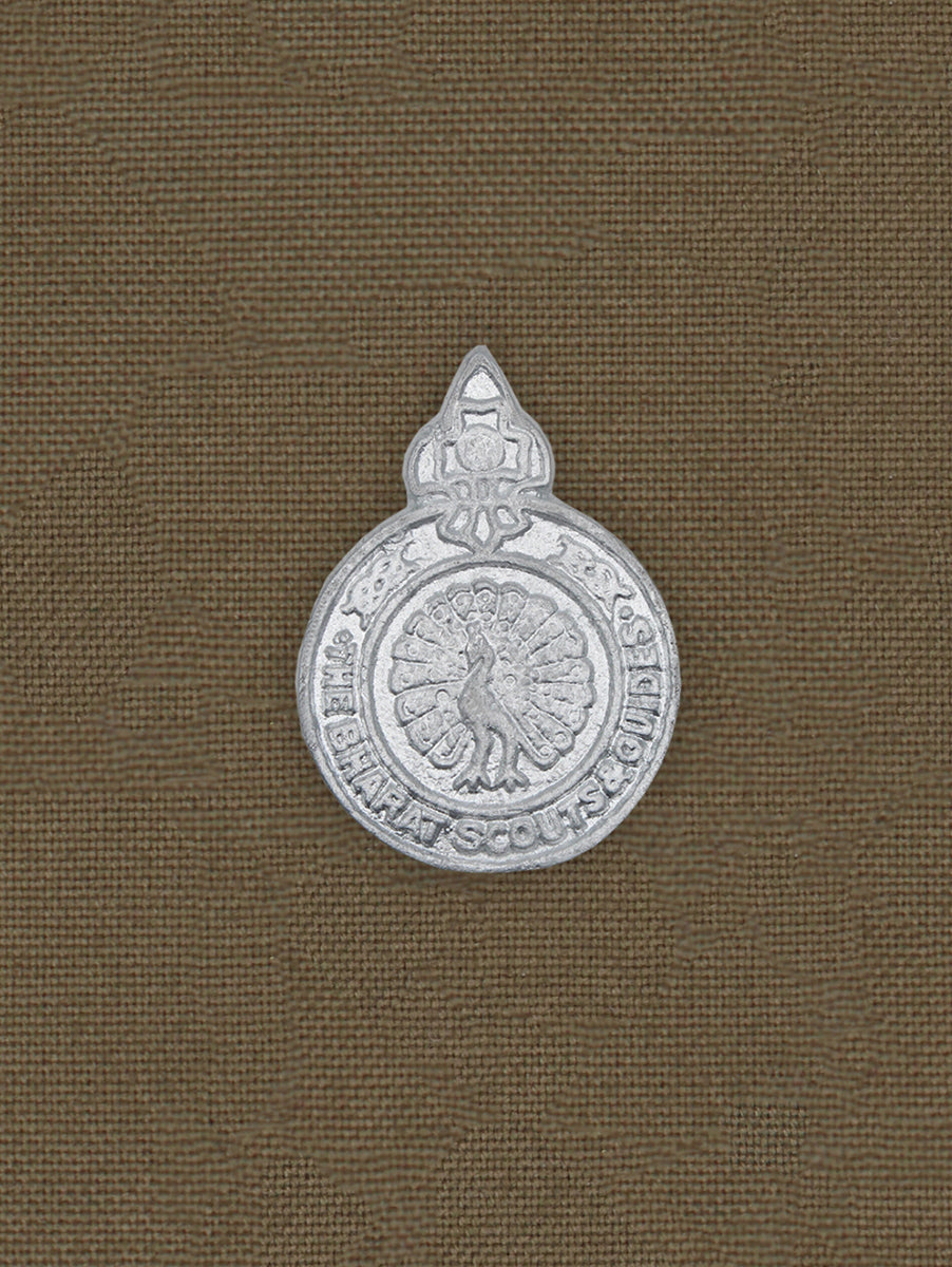 Beret Cap Badge Bharat Scout and Guides