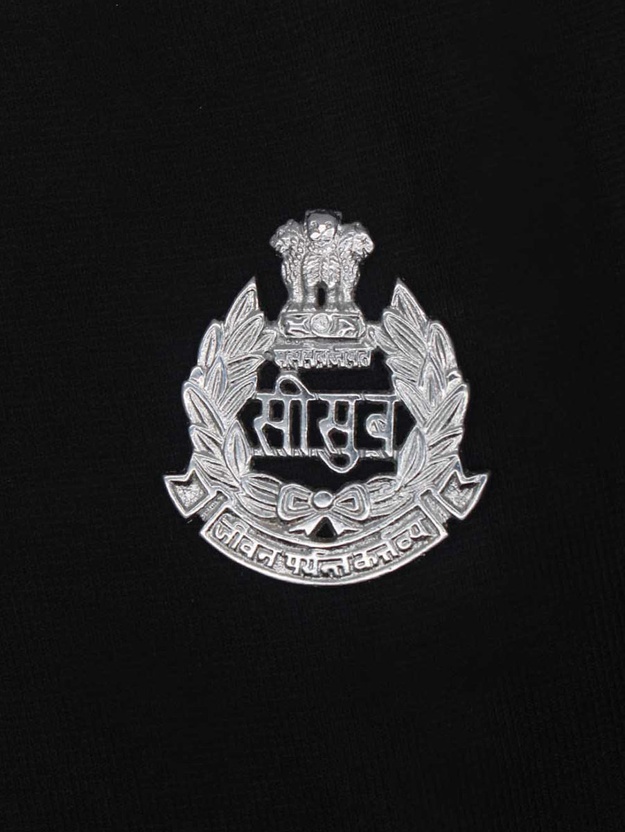 Beret Cap Badge Border Security Force Hindi