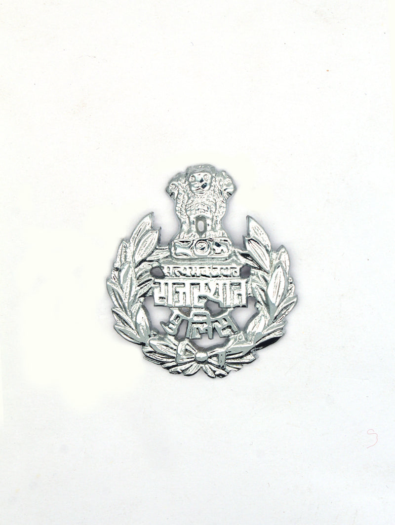 Beret Cap Badge Rajasthan Police Hindi