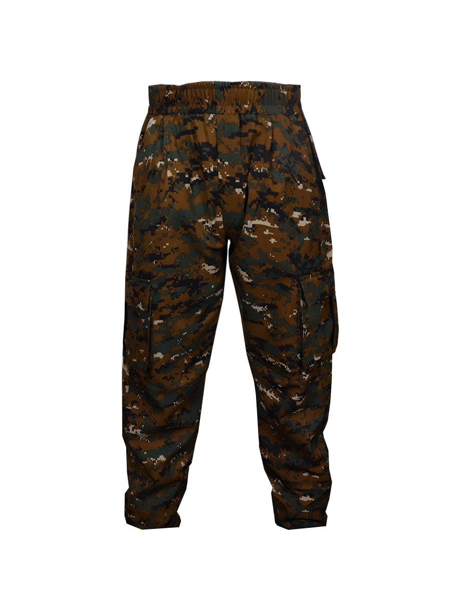 Cotton Green Cobra Print Cargos