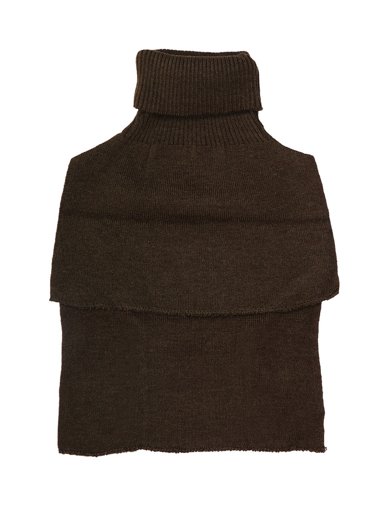 Khaki Woolen High Neck