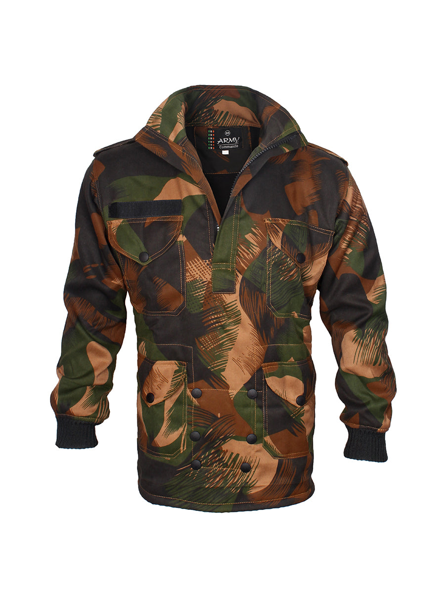 Dark Camouflage Jacket  Half Zip