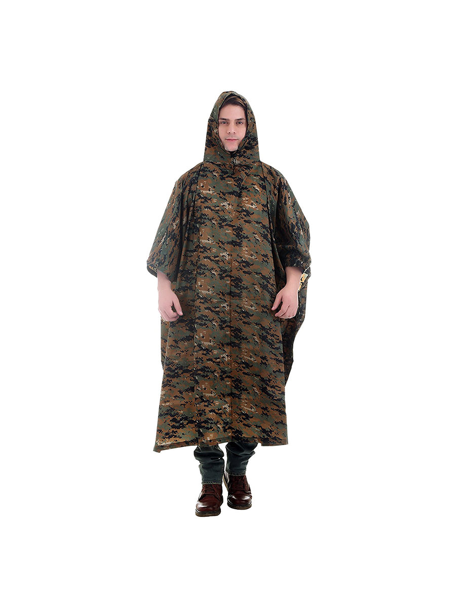 Cobra Print Rain Poncho with Hoods