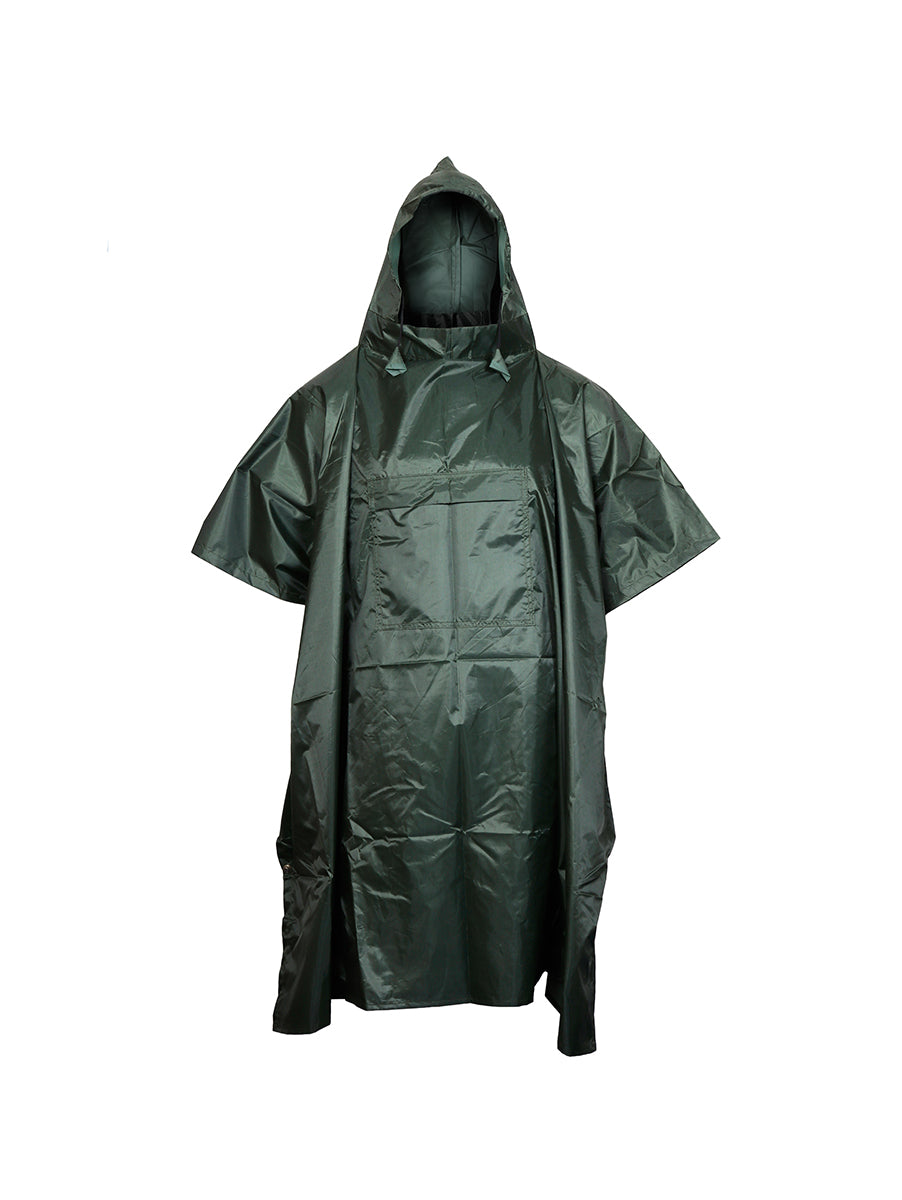 Dark Green Waterproof Rain Poncho