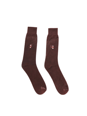 Brown Cotton Socks for Men