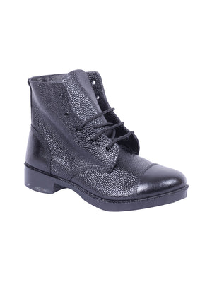 Black DMS Leather Boots