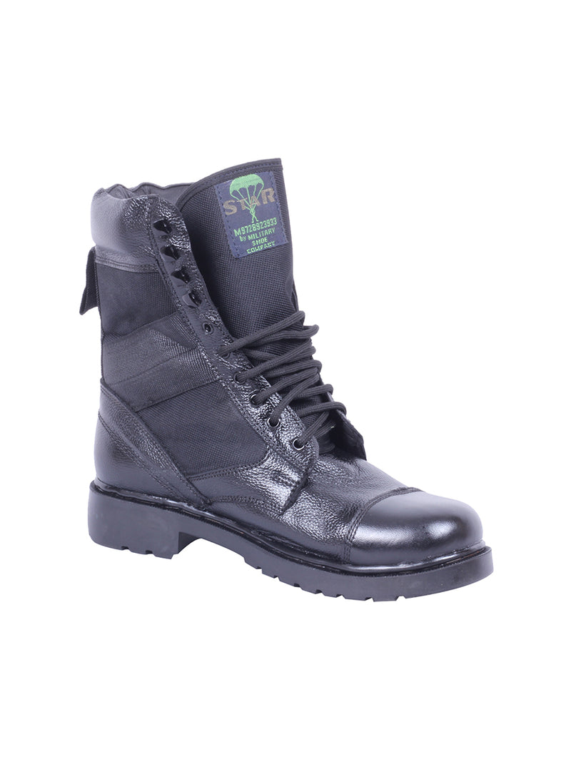 Black Star Leather Boots