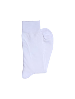 Men's Cotton White Length Socks