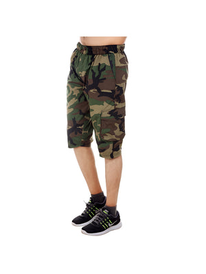 Polycotton Camouflage Print Shorts