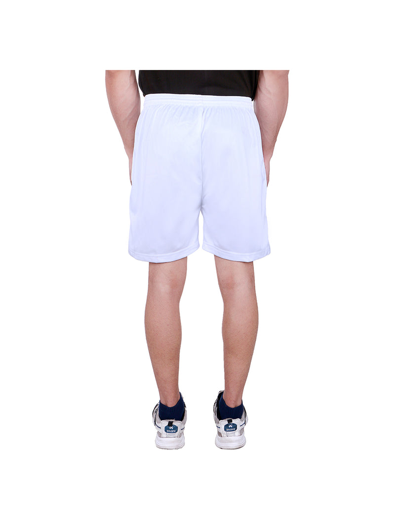 White Sweat Free Shorts for Men