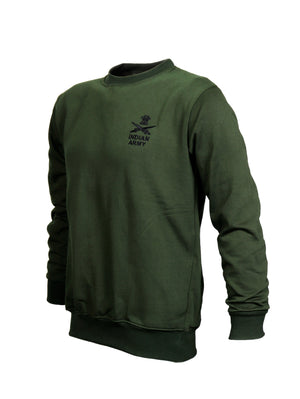 Olive Green Sweatshirt Indian Army