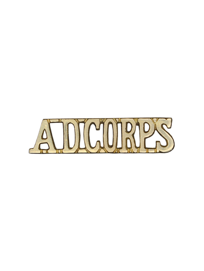 Shoulder Title Army Dental Corps
