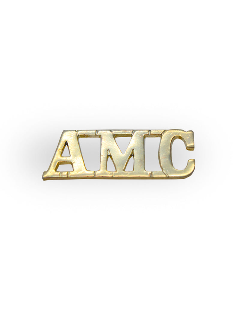 Shoulder Title Army Medical Corps