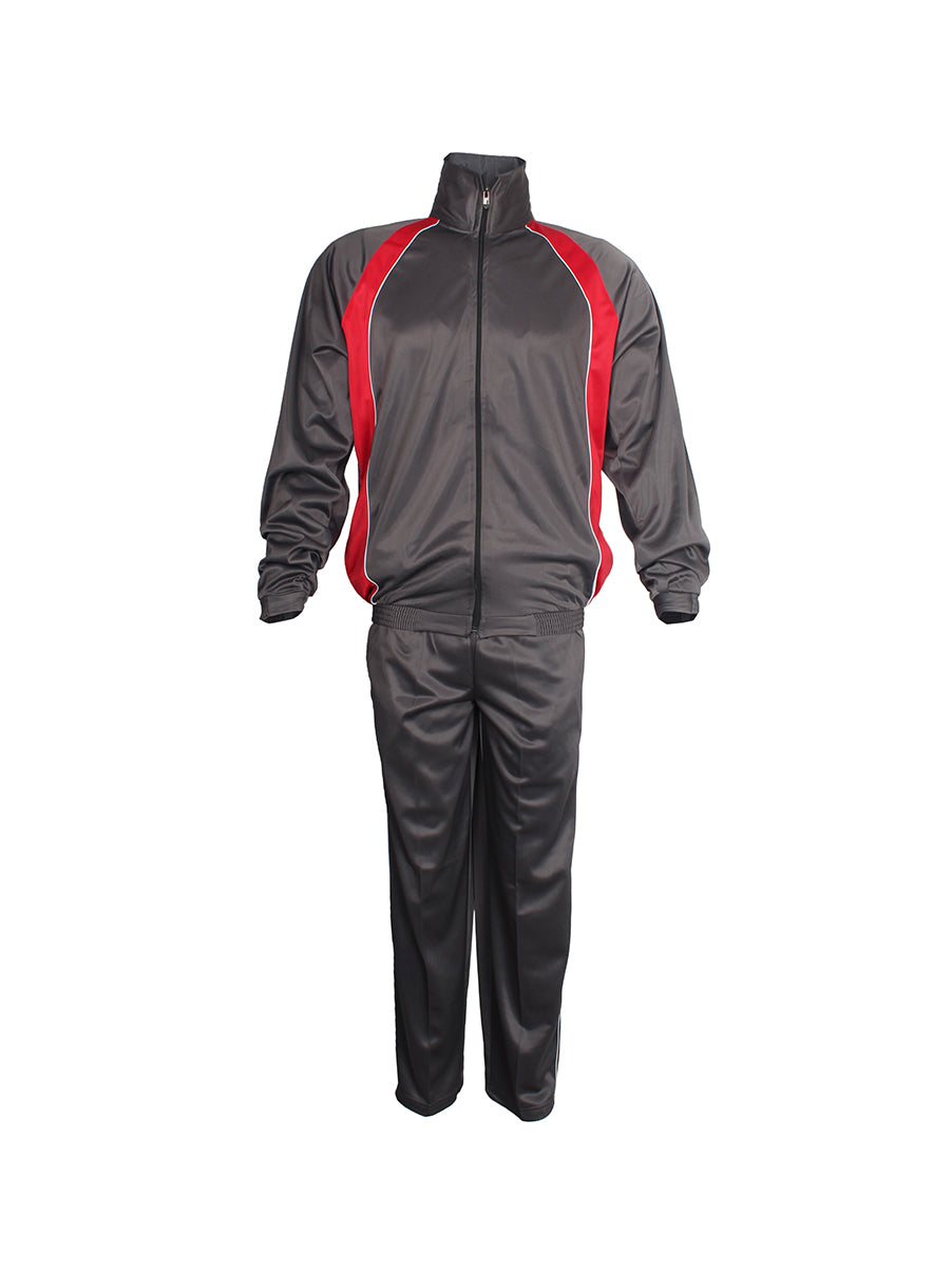 Grey and Red Superpoly Tracksuit