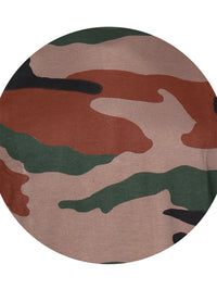 Camouflage Print Full Sleeve Round Neck T-Shirt