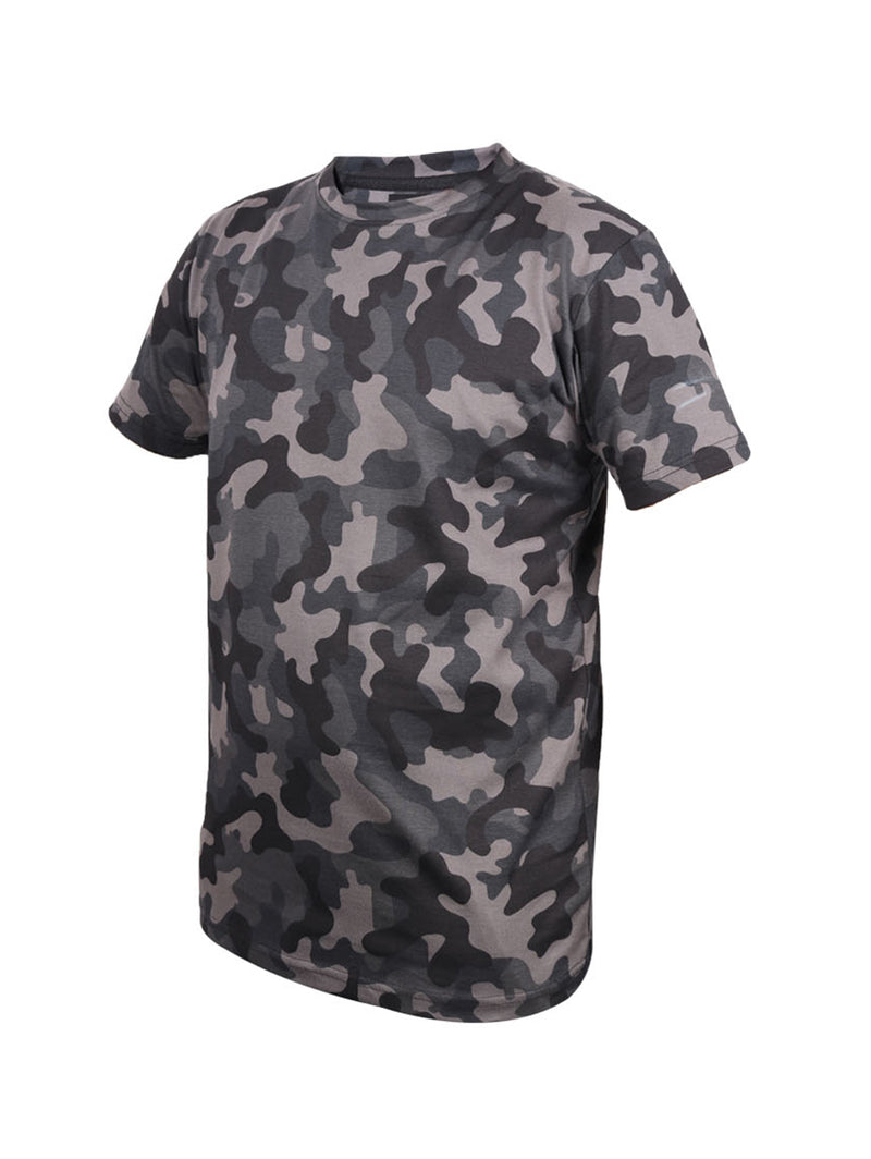 Camo Grey Half Sleeve Round Neck T-Shirt